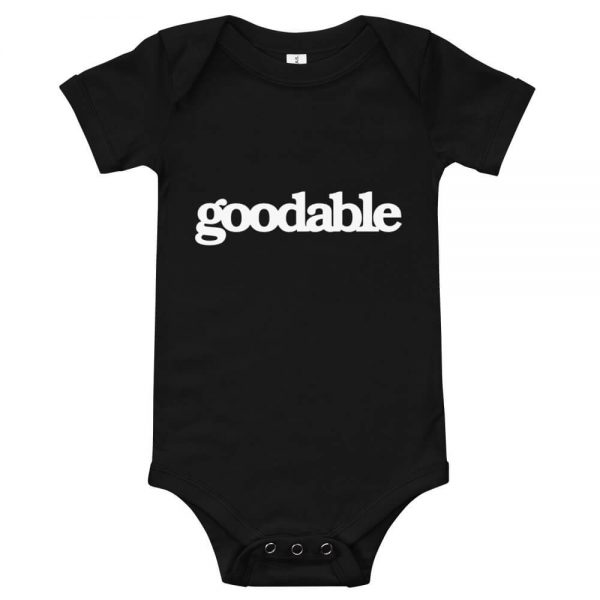 This One Is Good Baby T-Shirt Front Black